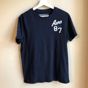 Aeropostale Men's Navy Blue Logo T-Shirt